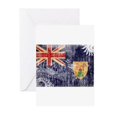 Turks and Caicos Flag Greeting Card