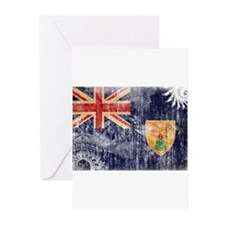 Turks and Caicos Flag Greeting Cards (Pk of 10)