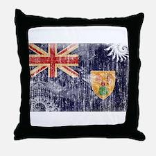 Turks and Caicos Flag Throw Pillow
