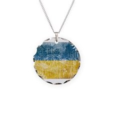 Ukraine Flag Necklace