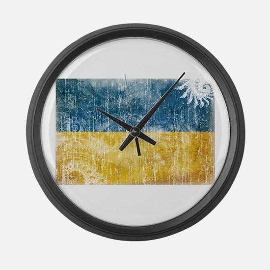 Ukraine Flag Large Wall Clock