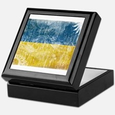 Ukraine Flag Keepsake Box