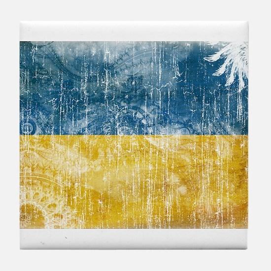 Ukraine Flag Tile Coaster