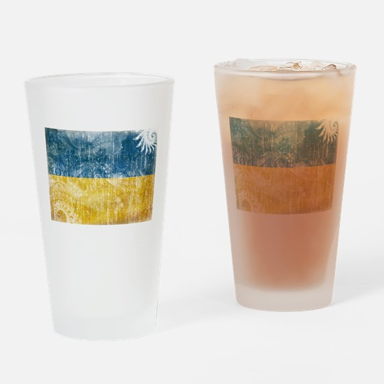 Ukraine Flag Drinking Glass