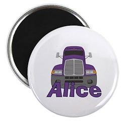 Trucker Alice Magnet