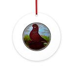 Muffed Tumbler Circle Ornament (Round)