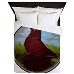 Muffed Tumbler Circle Queen Duvet