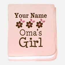 Personalized Oma's Girl baby blanket