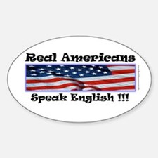 American English Oval Decal