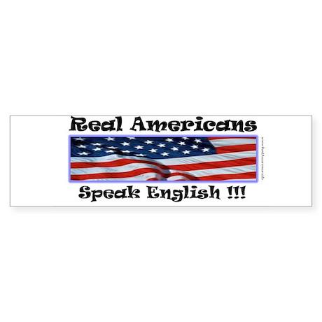 American English Bumper Sticker