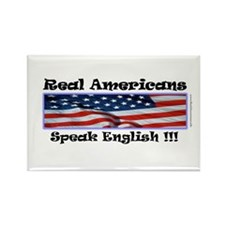 American English Rectangle Magnet