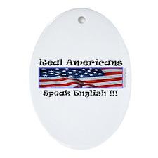 American English Oval Ornament
