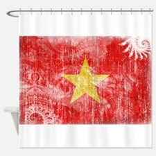 Vietnam Flag Shower Curtain