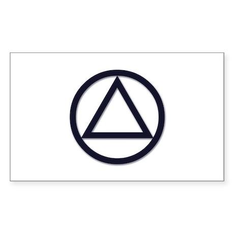 A.A. Symbol Basic - Sticker (Rectangle)