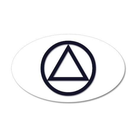 A.A. Symbol Basic - 22x14 Oval Wall Peel