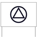Alcoholics anonymous symbol aa Yard Signs