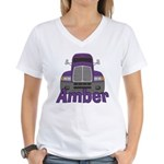 Trucker Amber Women's V-Neck T-Shirt