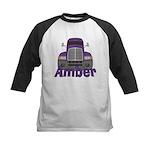 Trucker Amber Kids Baseball Jersey
