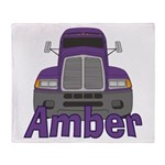 Trucker Amber Throw Blanket