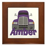 Trucker Amber Framed Tile