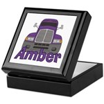 Trucker Amber Keepsake Box