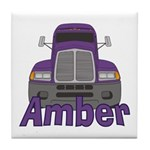 Trucker Amber Tile Coaster