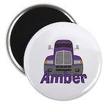 Trucker Amber Magnet