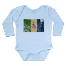 Yukon Territories Flag Long Sleeve Infant Bodysuit
