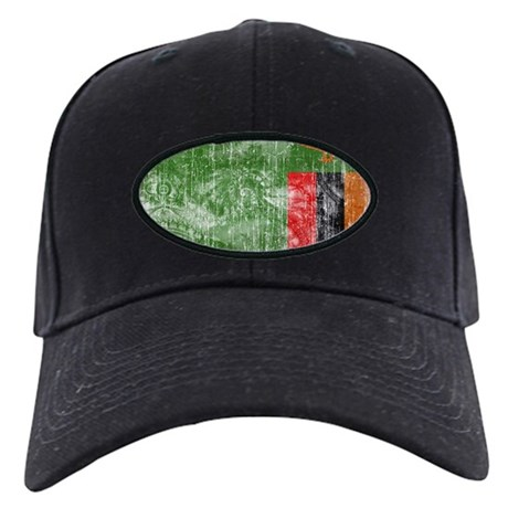 Zambia Flag Black Cap