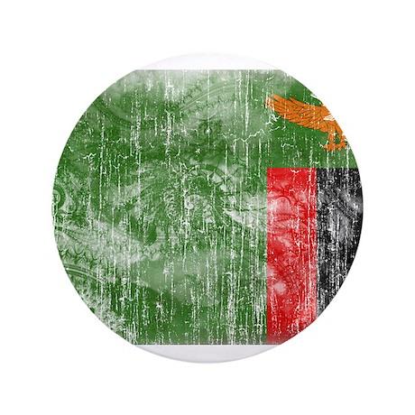 """Zambia Flag 3.5"""" Button"""