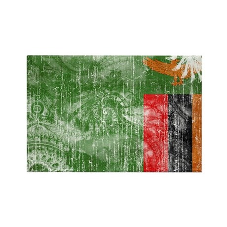 Zambia Flag Rectangle Magnet (100 pack)
