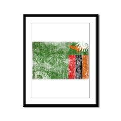Zambia Flag Framed Panel Print