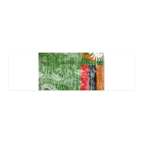 Zambia Flag 21x7 Wall Peel