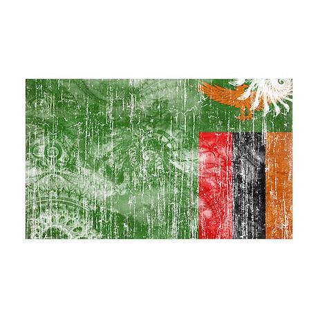 Zambia Flag 38.5 x 24.5 Wall Peel