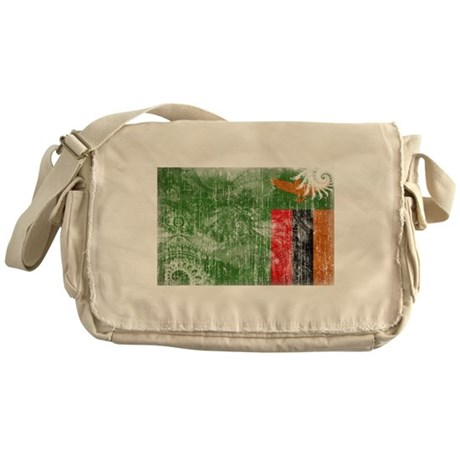 Zambia Flag Messenger Bag