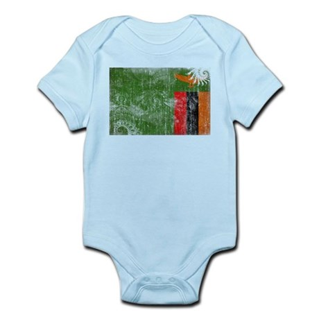 Zambia Flag Infant Bodysuit