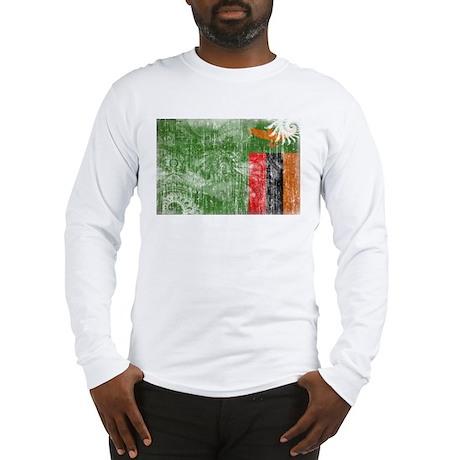 Zambia Flag Long Sleeve T-Shirt
