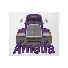 Trucker Amelia Throw Blanket