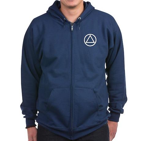A.A. Symbol Basic - Zip Hoodie (dark)