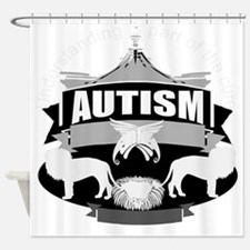 autismsym.png Shower Curtain
