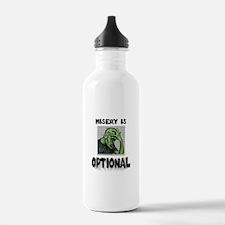 Misery Is Optional ~ jpg 2000x2000.jpg Water Bottle