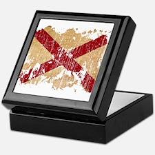 Alabama Flag Keepsake Box