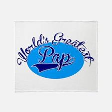 Worlds Greatest Pap Throw Blanket