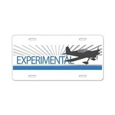Aircraft Experimental Aluminum License Plate