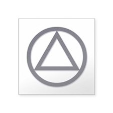 "A.A. Symbol Basic - Square Sticker 3"" x 3"""