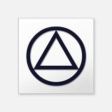 "A.A. Symbol Basic - Square Sticker 3"" x 3"""