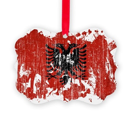 Albania Flag Picture Ornament
