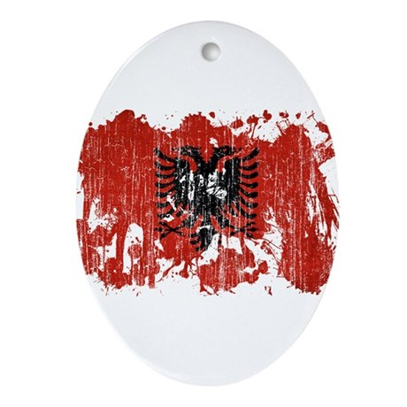 Albania Flag Ornament (Oval)