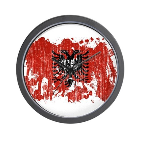 Albania Flag Wall Clock