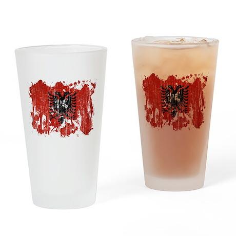 Albania Flag Drinking Glass